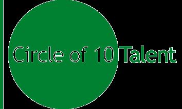 Circle of 10 Green transp logo